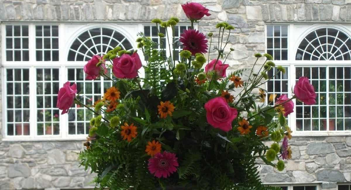 Flower Arrangement at the South Porch at Skytop Lodge