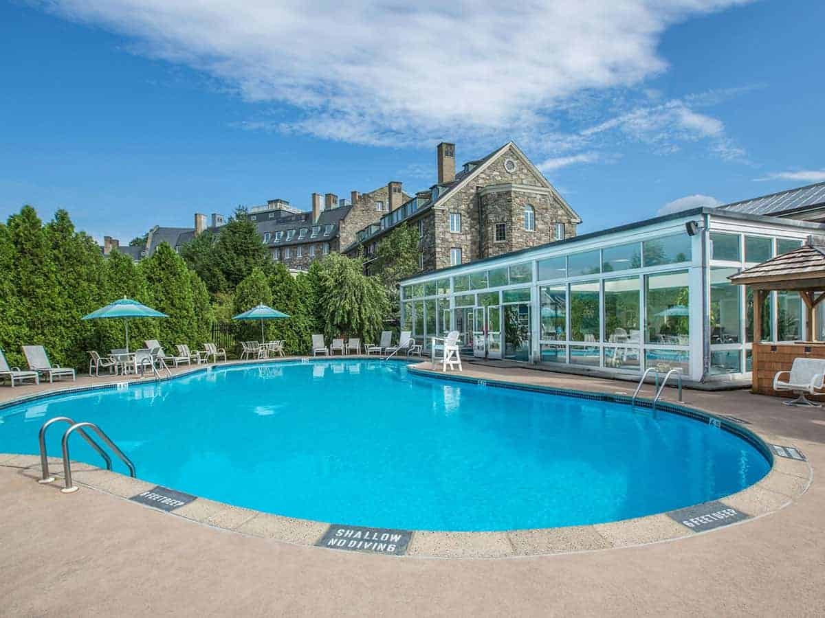 Outdoor Swimming Pool at Skytop Lodge | Activities & Adventures in the Poconos